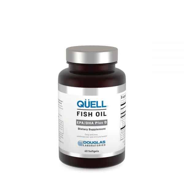 Quell Fish Oil EPA DHA plus D3 60ct by Douglas Laboratories