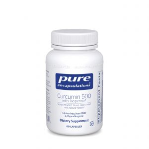 Curcumin 500 with Bioperine 60ct by Pure Encapsulations