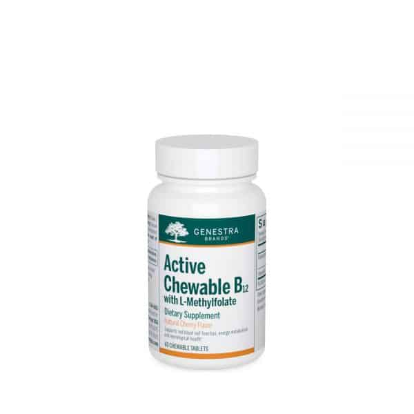 ACTIVE Chewable B12 with L-Methylfolate 60ct by Genestra Brands