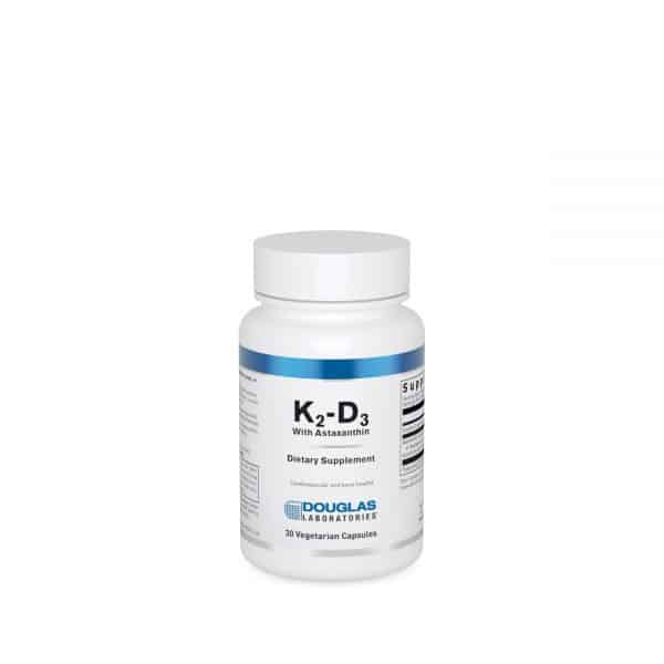 K2-D3 with Astaxanthin 30ct by Douglas Laboratories