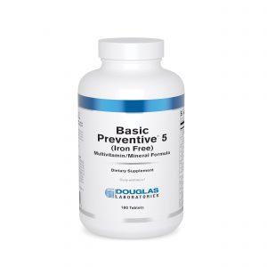 Basic Preventive 5 Iron Free 180ct by Douglas Laboratories