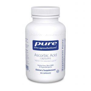 Ascorbic Acid Capsules 90ct by Pure Encapsulations