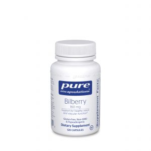 Bilberry 160 mg 120ct by Pure Encapsulations