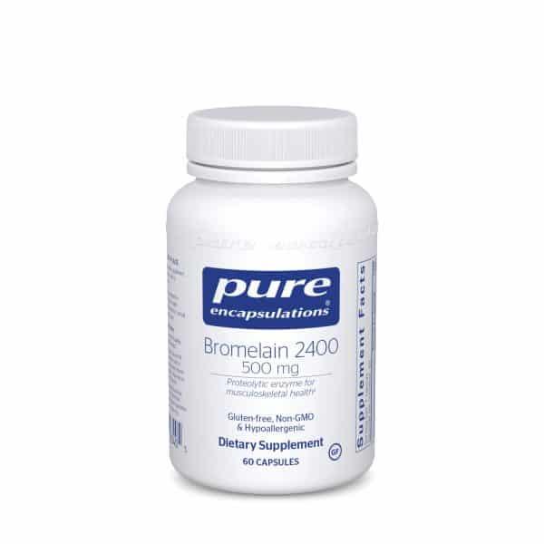 Bromelain 2400 500 mg 60ct by Pure Encapsulations