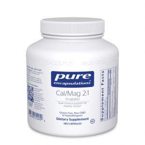 Calcium Magnesium malate 2:1 180ct by Pure Encapsulations