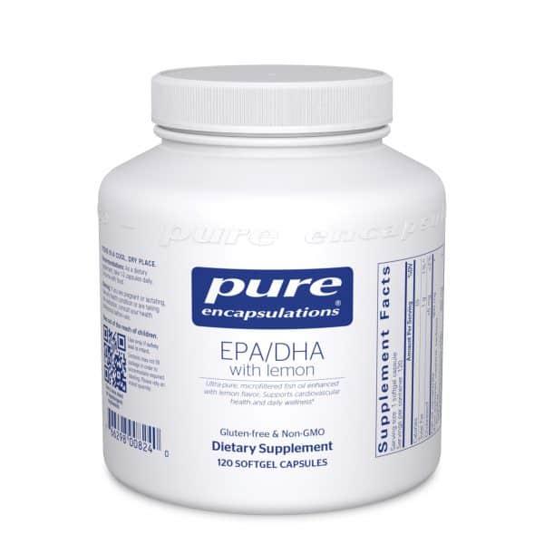 EPA/DHA with lemon 120ct by Pure Encapsulations