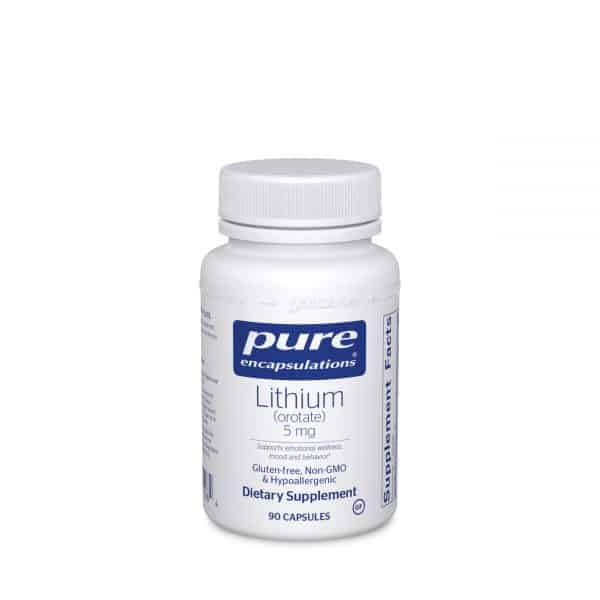 Lithium orotate 5 mg 90ct by Pure Encapsulations