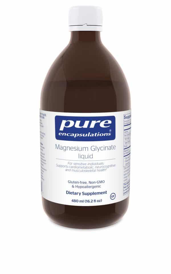 Magnesium Glycinate liquid 480 ml by Pure Encapsulations