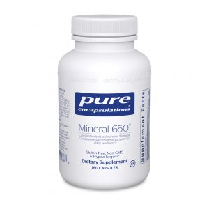 Mineral 650 180ct by Pure Encapsulations