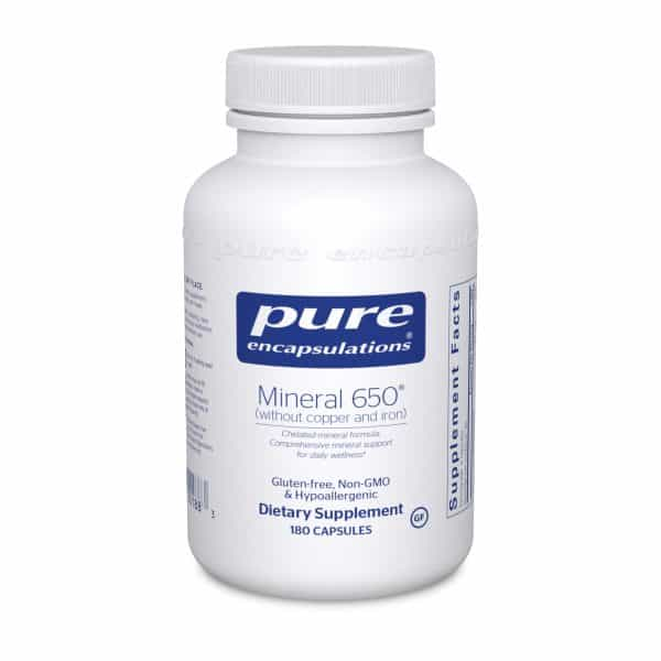 Mineral 650 w:o Cu & Fe 180ct by Pure Encapsulations