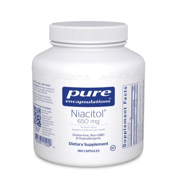 Niacitol 650 mg 180ct by Pure Encapsulations