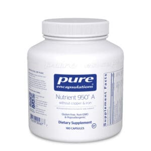 Nutrient 950 A without copper and iron 180ct by Pure Encapsulations