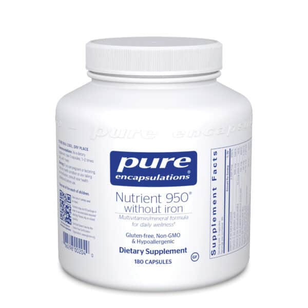 Nutrient 950 without Iron 180ct by Pure Encapsulations