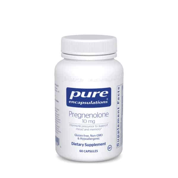 Pregnenolone 10 mg 60ct by Pure Encapsulations