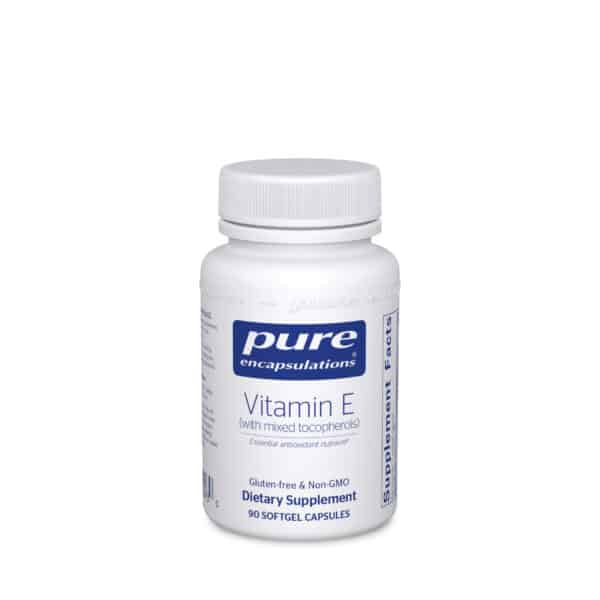 Vitamin E with mixed tocopherols 90ct by Pure Encapsulations